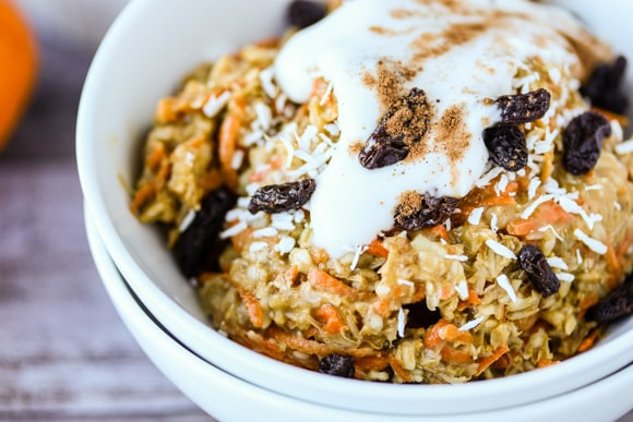 Carrot Cake Oats up close