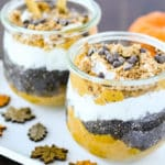 Pumpkin Pie Chia Parfaits on platter