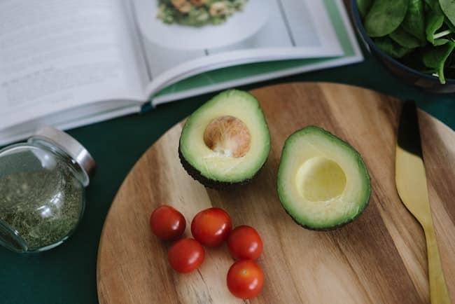 avocado wtih tomatoes on board