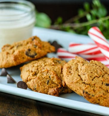 Grain-Free Chocolate Chip Mint Cookies