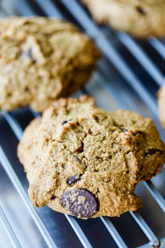 cassava chocolate chip cookies up close