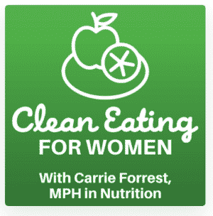 clean eating for women podcast art