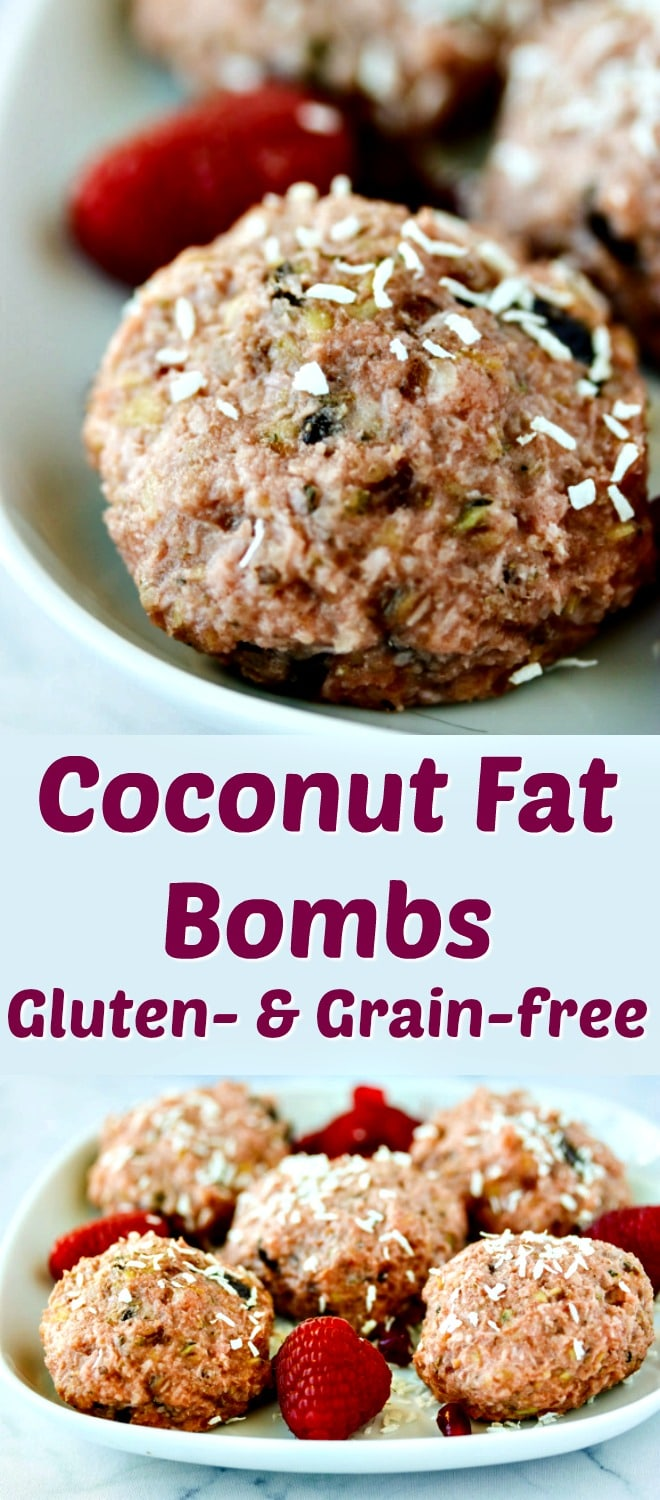 Fat bombs are the latest no-bake cookie craze to hit the web. This version of Paleo Coconut Fat Bombs are grain-free and so satisfying! Grain-free, gluten-free, and vegan. #paleo #veganfood #nobake #cookies #fatbombs #ketodiet #coconut