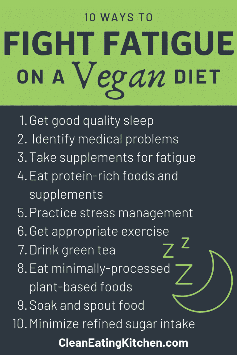 10 ways to fight fatigue vegan diet