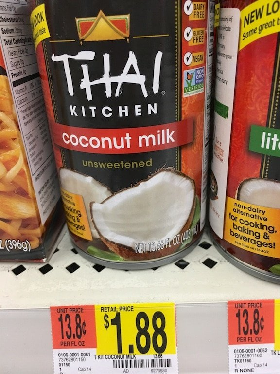 coconut milk can