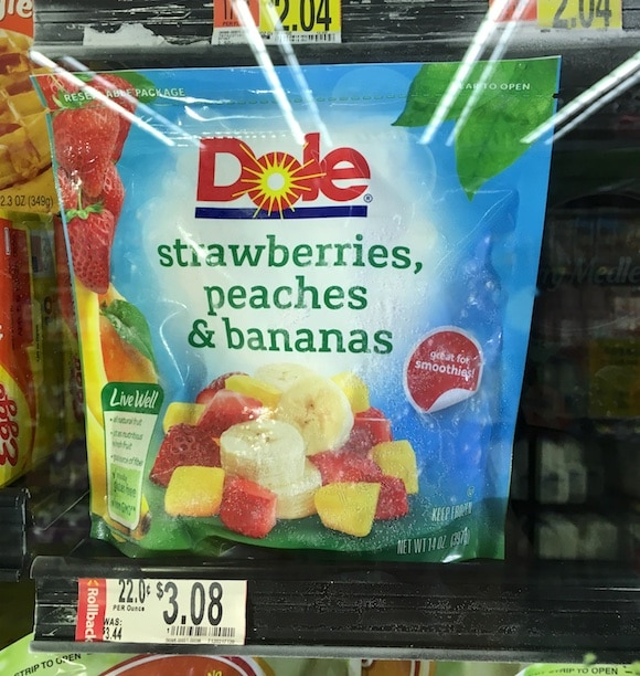 dole frozen fruit package