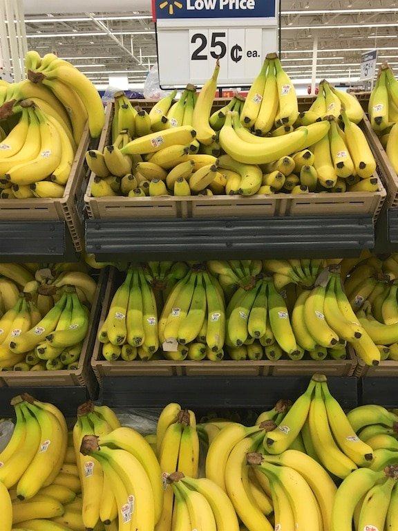 bananas at walmart for 25 cents each