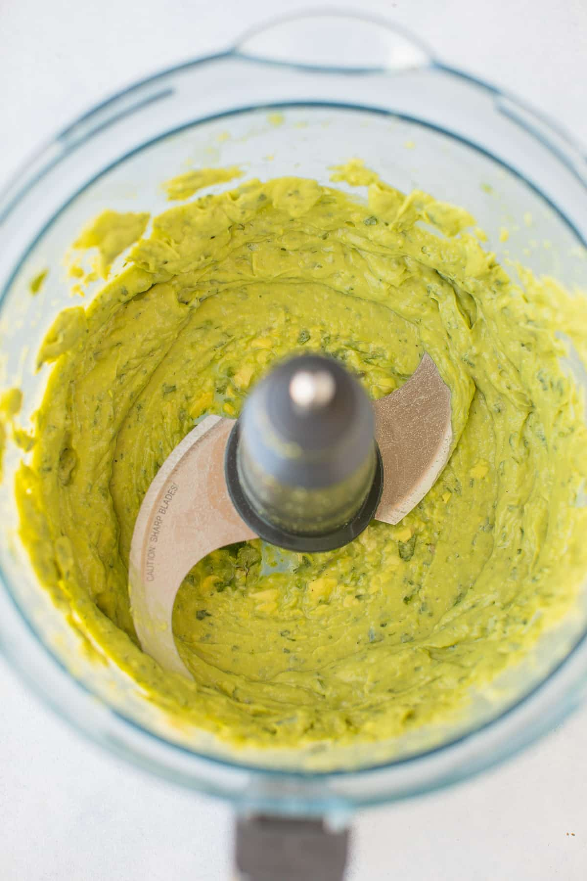avocado spread blended in a food processor