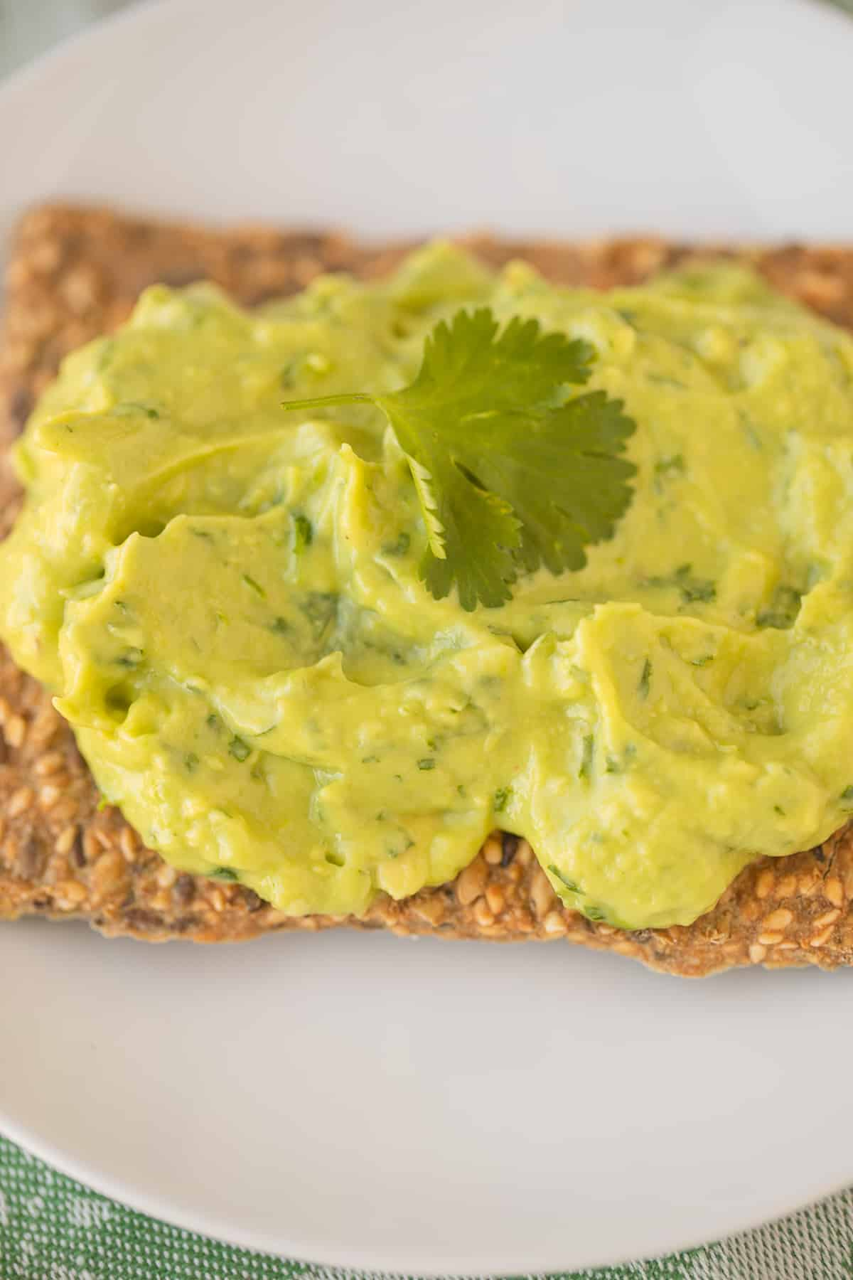 avocado spread on a cracker
