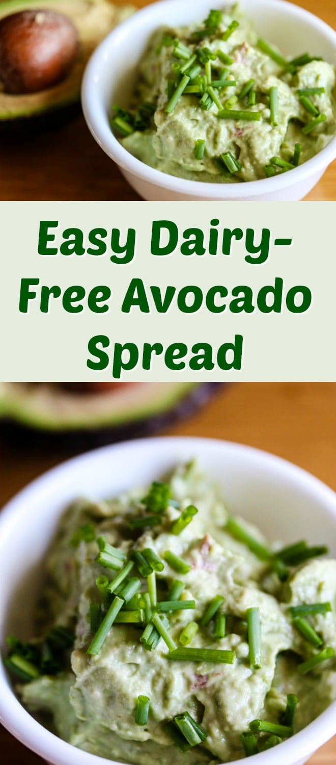 This Dairy-Free Creamy Avocado Spread will be your new best friend when making sandwiches or toasts. Just a few simple ingredients and you're ready to go. #avocado #glutenfree #dairyfree #mayo #healthyrecipe #easyrecipe #cleaneating
