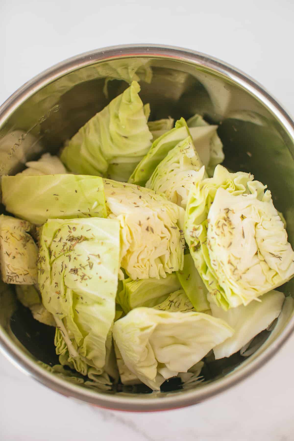 chopped cabbage in instant pot