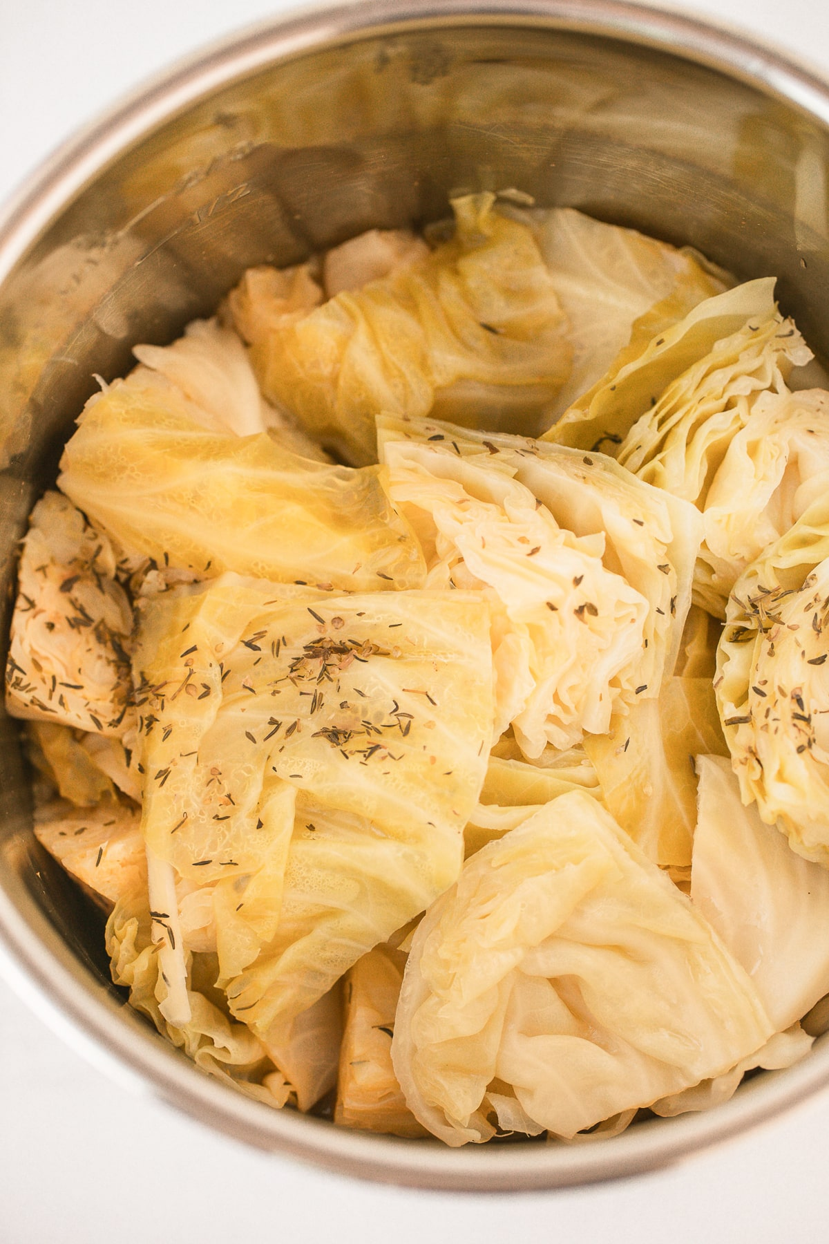 cooked cabbage in instant pot