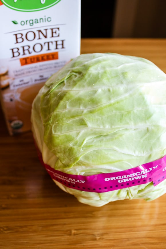 broth and cabbage for recipe