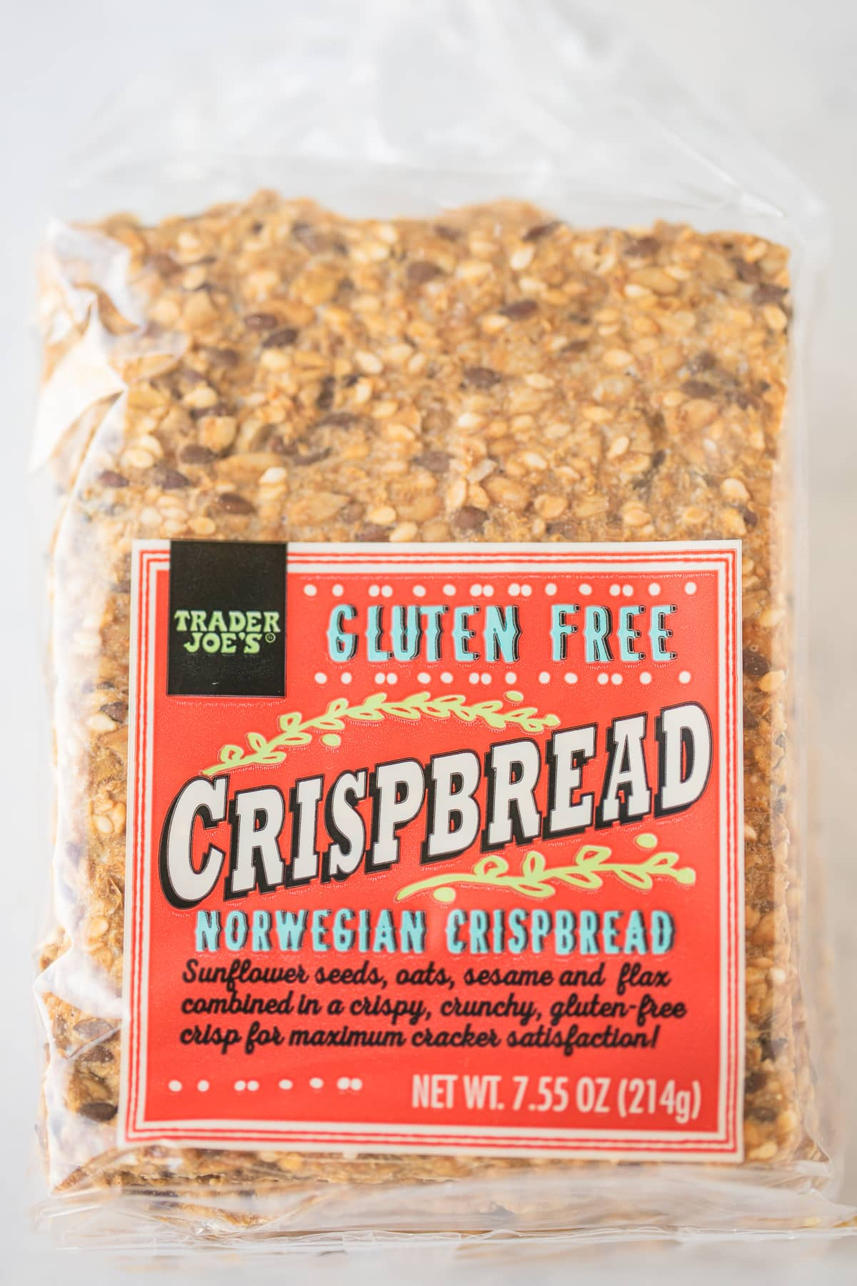 package of gluten free crisp breads from Trader Joes