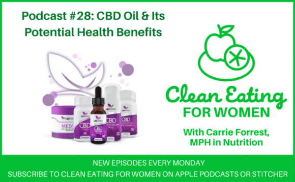 CBD Oil and its potential health benefits on the Clean Eating for Women podcast
