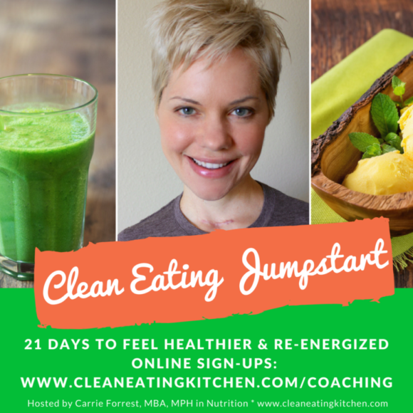 Clean Eating Jumpstart with Carrie Forrest, MBA, MPH in Nutrition