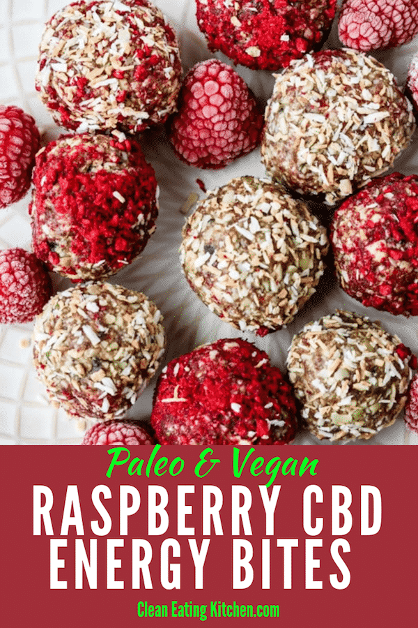 Raspberry CBD Energy Bites