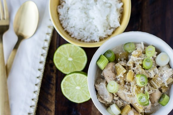 Coconut Chicken Instant Pot with rice