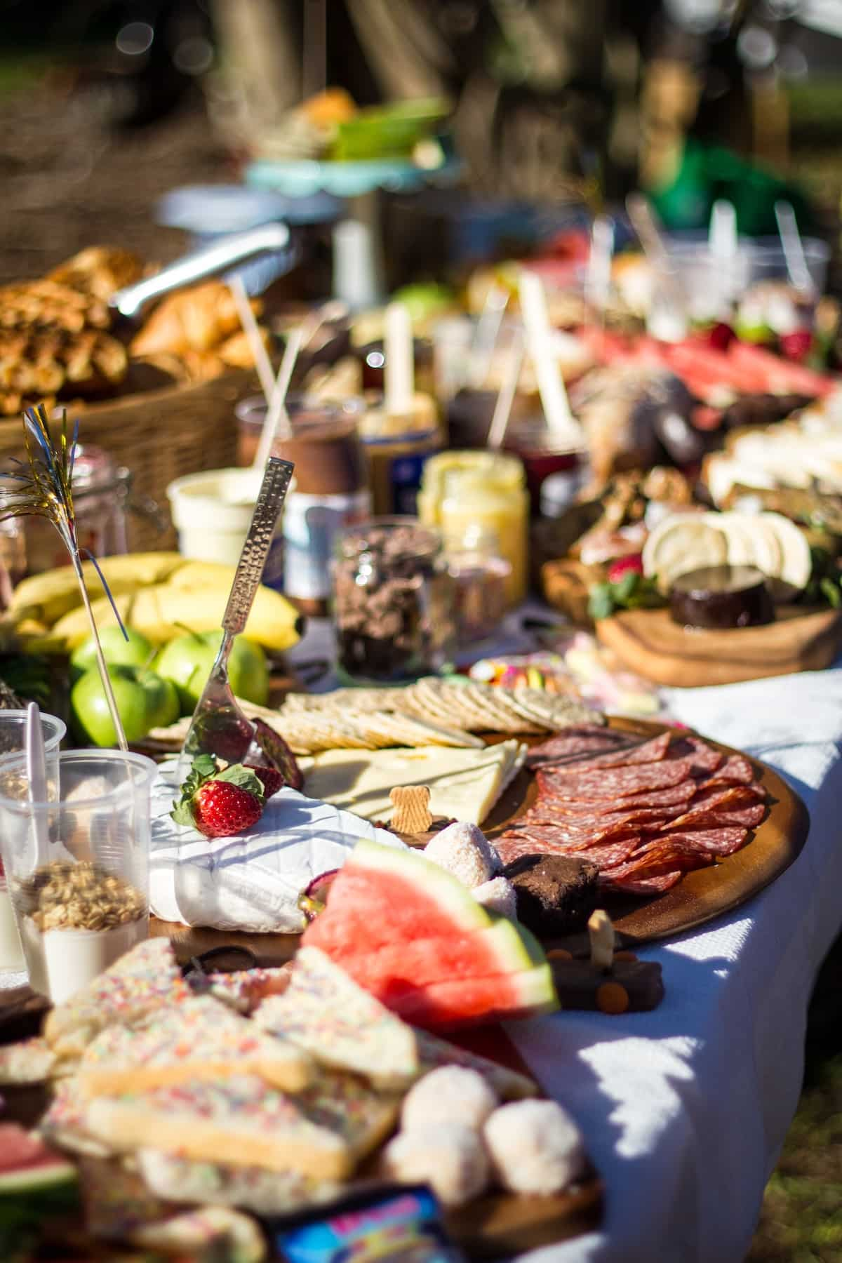 cold cuts buffet table