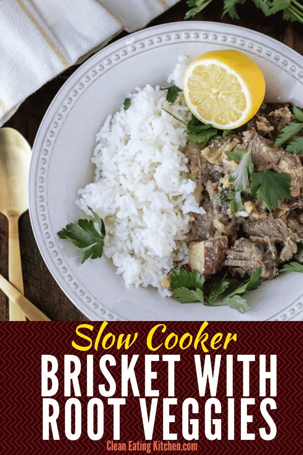 slow cooker brisket with root veggies