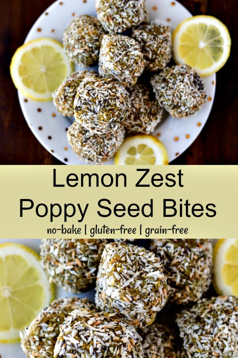 If you love the flavor of lemon poppy seed muffins, then you'll adore these Lemon Poppy Seed Bites! They're a gluten-free healthy treat with real food ingredients. #energybites #glutenfree #healthydessert