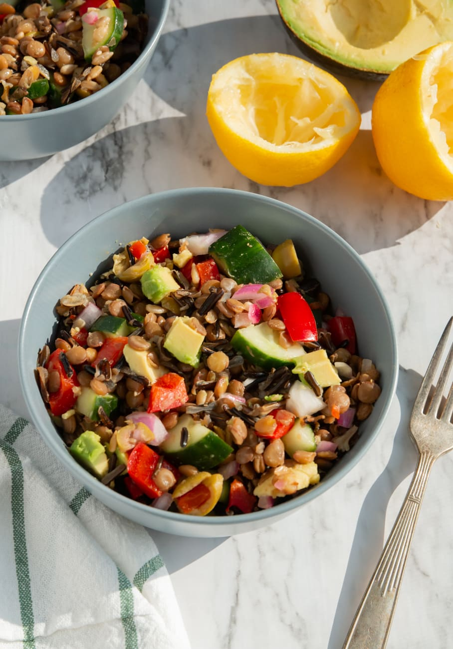 lentil salad with fresh lemon