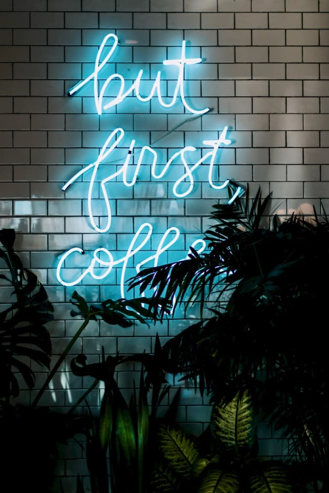 but first cofee neon sign