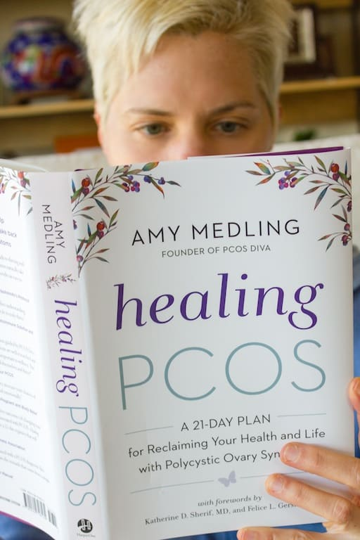 carrie reading healing PCOS book
