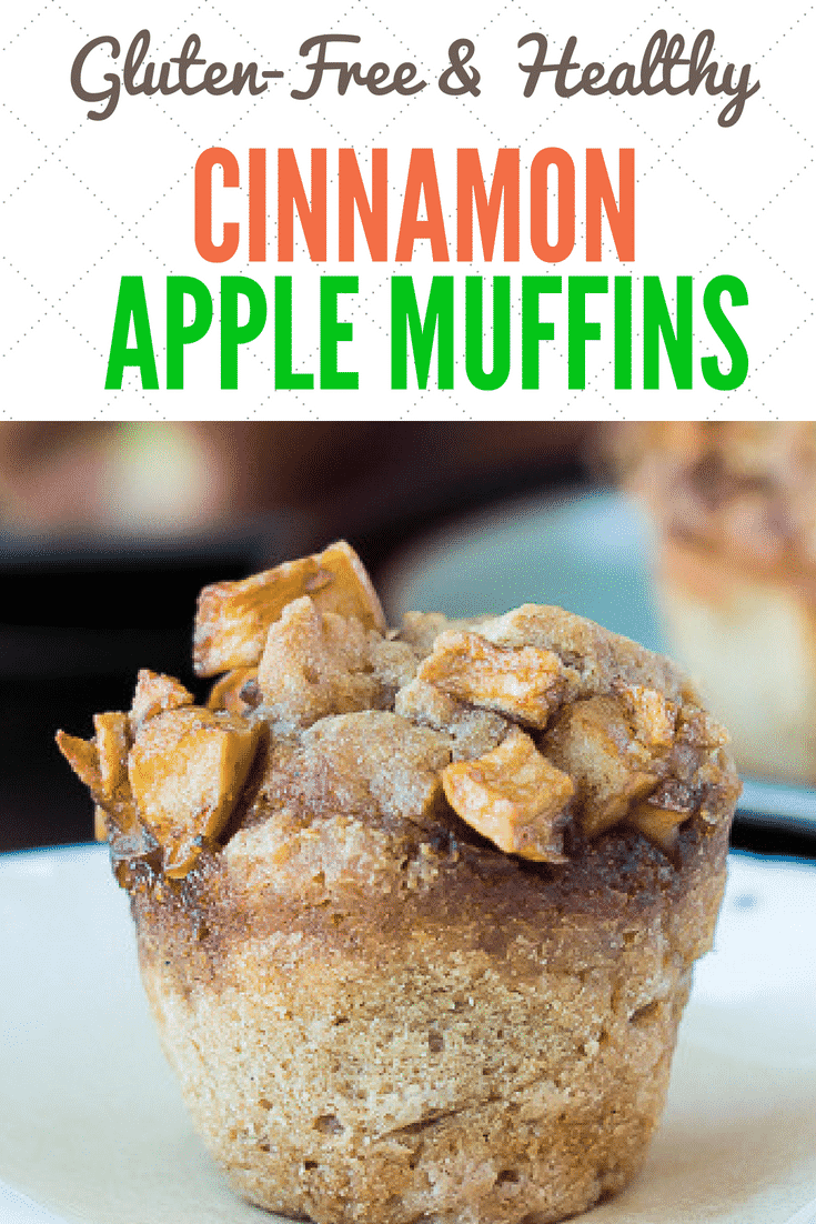 These Cinnamon Apple Muffins are a grain-free and gluten-free treat. The muffins are moist and sweet, with a delightful apple topping for added texture and flavor. #cassava #grainfree #muffins #cinnamon #apple #glutenfree