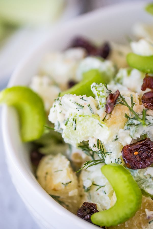 instant pot easy potato salad with dill