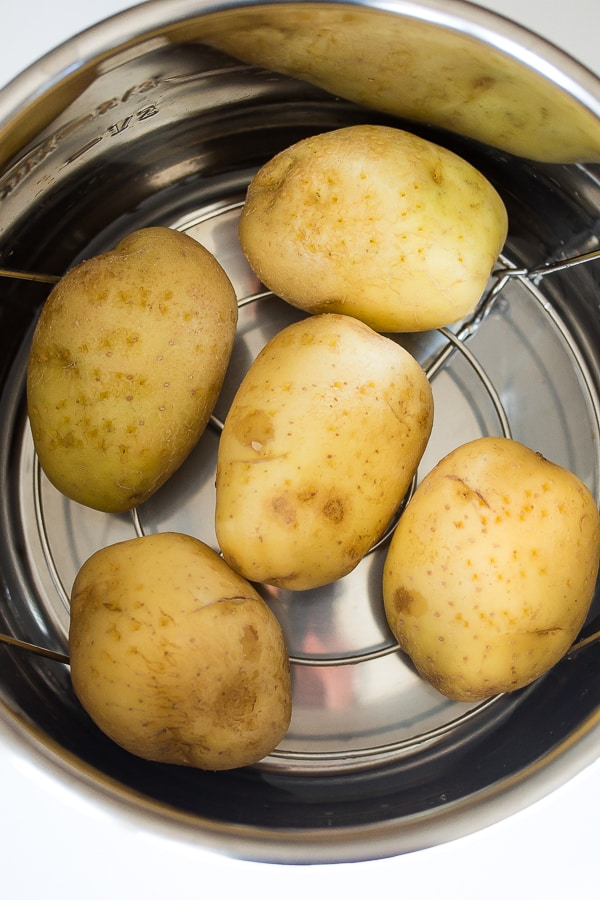 white potatoes in instant pot with trivet