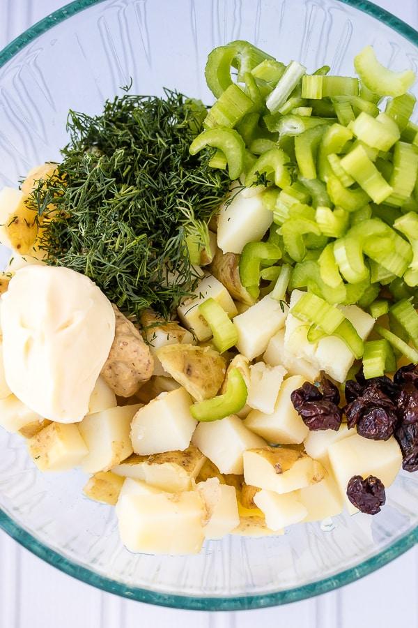 instant pot easy potato salad ingredients
