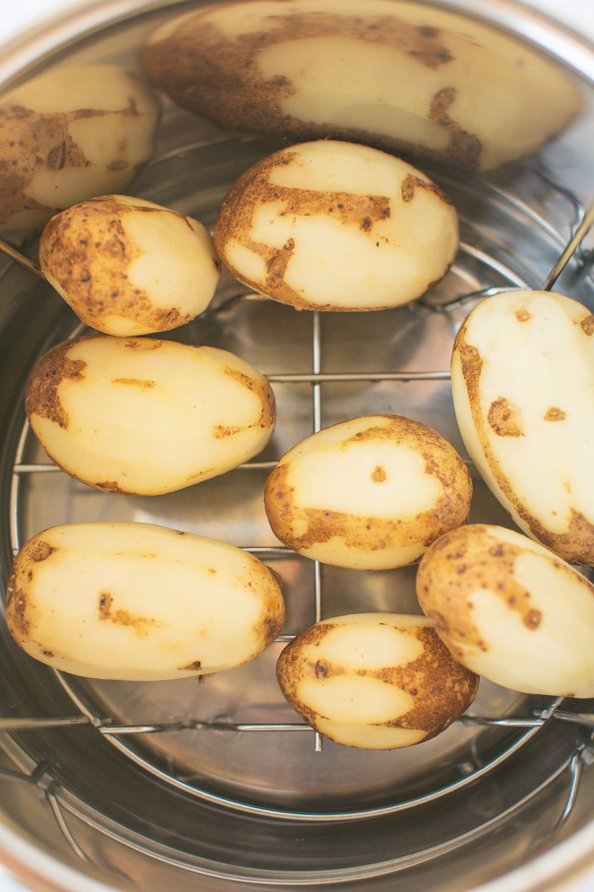 white potatoes in an instant pot