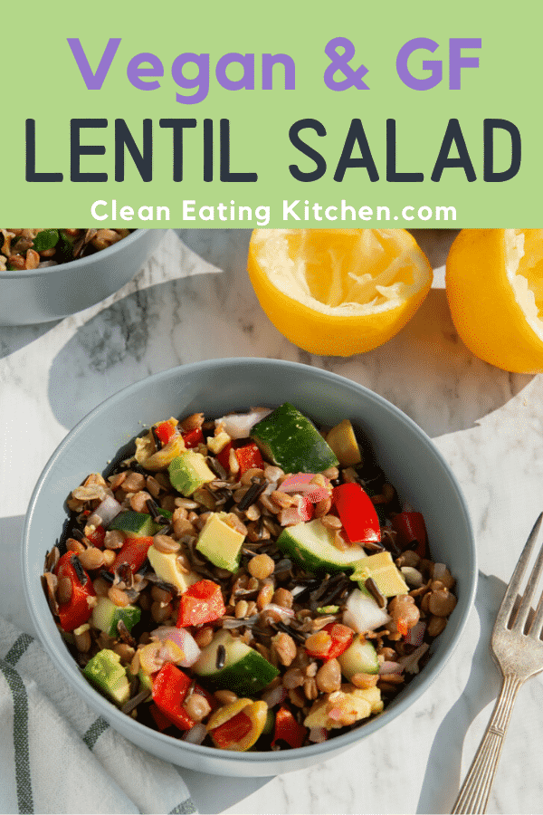vegan and gf lentil salad
