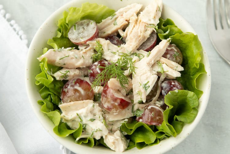 whole30 chicken salad with grapes