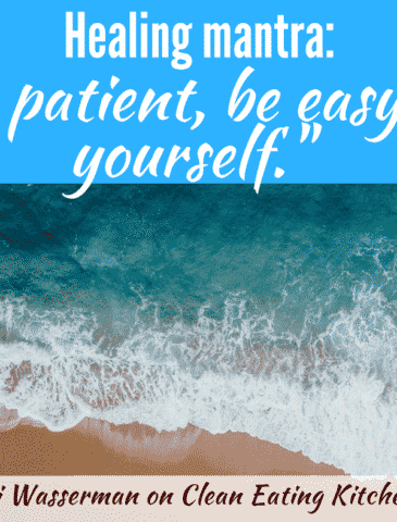 Healing mantra to be patient and be easy on yourself by Marni