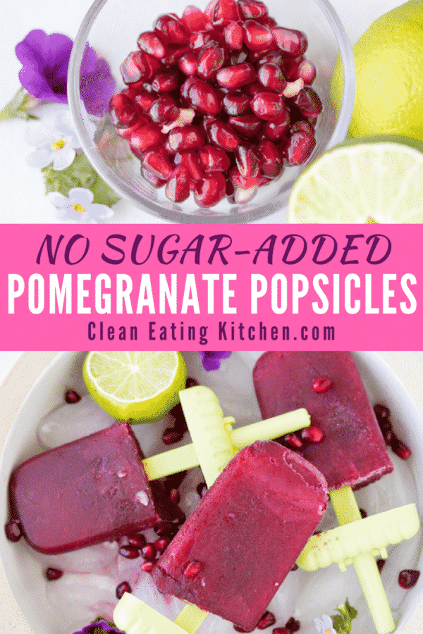 No sugar added Pomegranate Popsicles