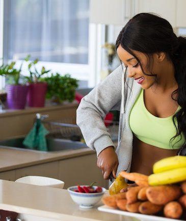 clean eating diet preparation