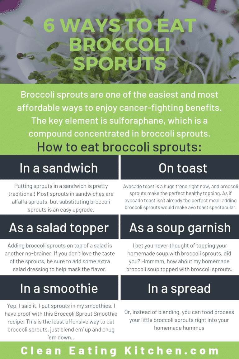 6 ways to eat broccoli sprouts