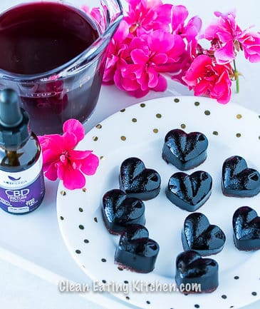 Homemade CBD Sleep Gummy hearts