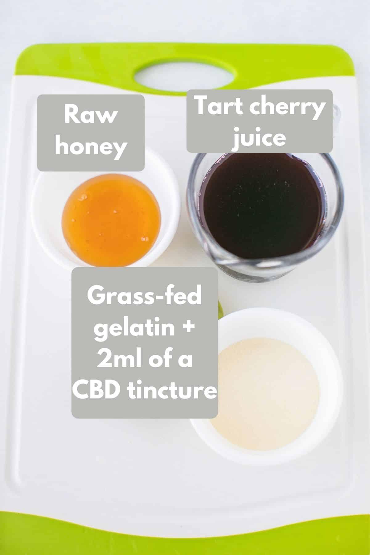 ingredients for cbd sleep gummies