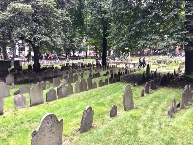 Boston cemetery on Freedom Trail