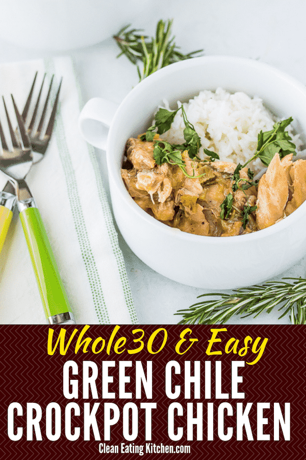 Crockpot Chicken with Green Chiles Whole30