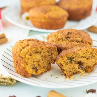 gluten free muffins on a plate ready to serve