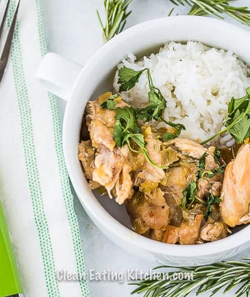 crockpot chicken thighs with green chiles and rosemary