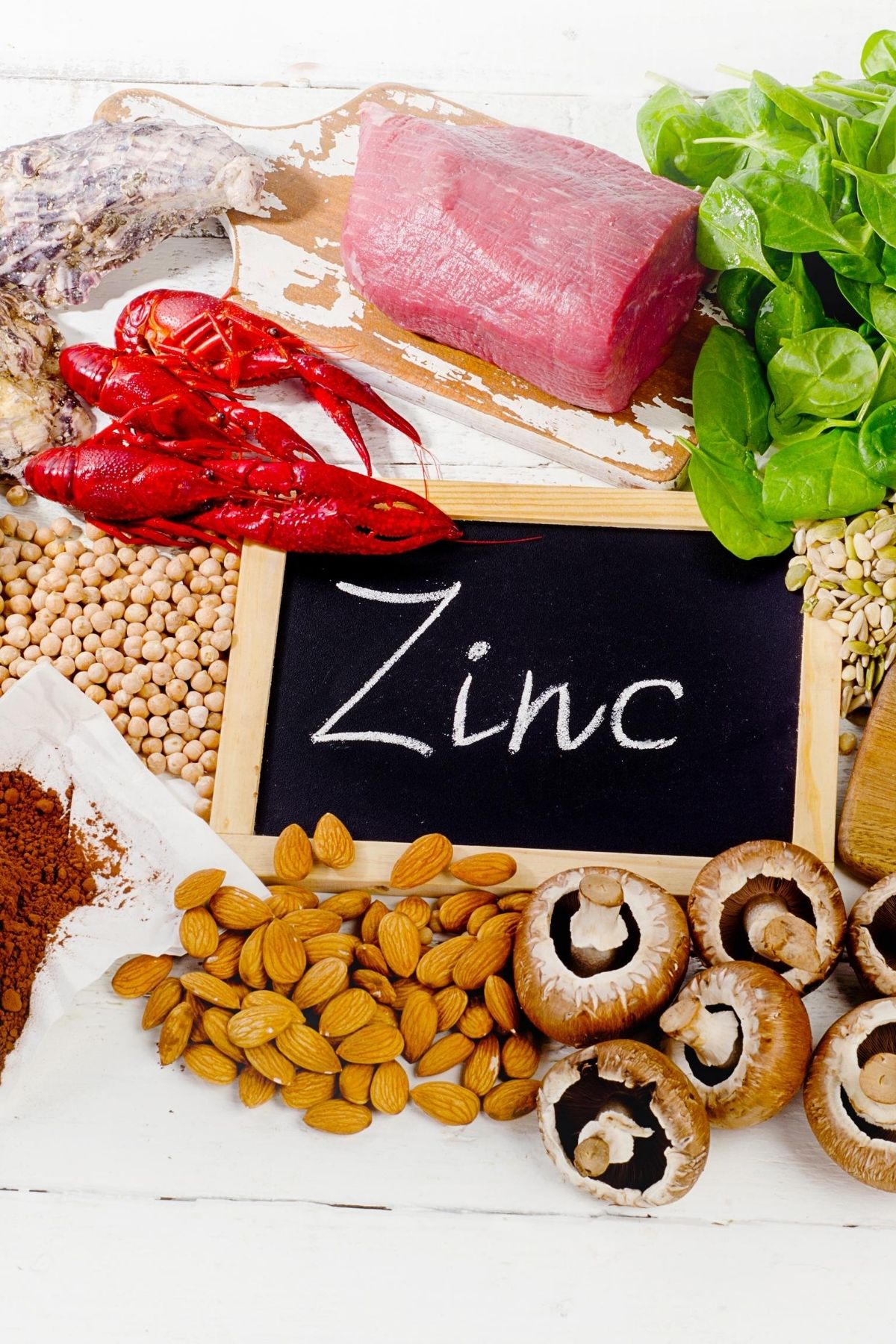foods rich in zinc graphic