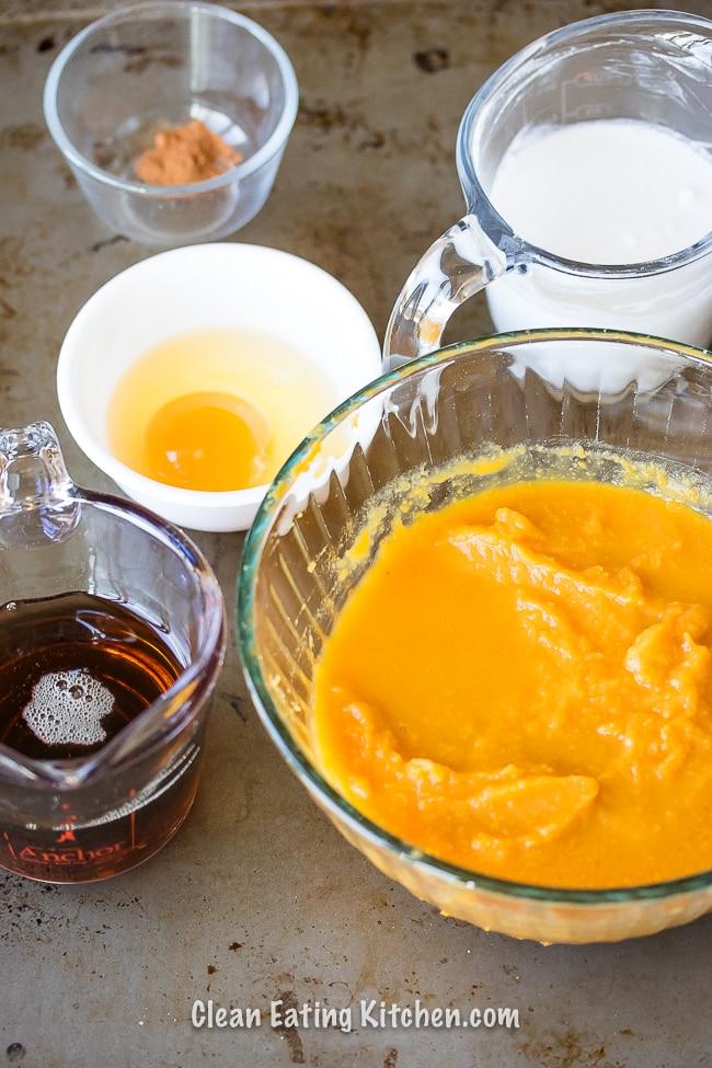 instant pot pumpkin custard ingredients