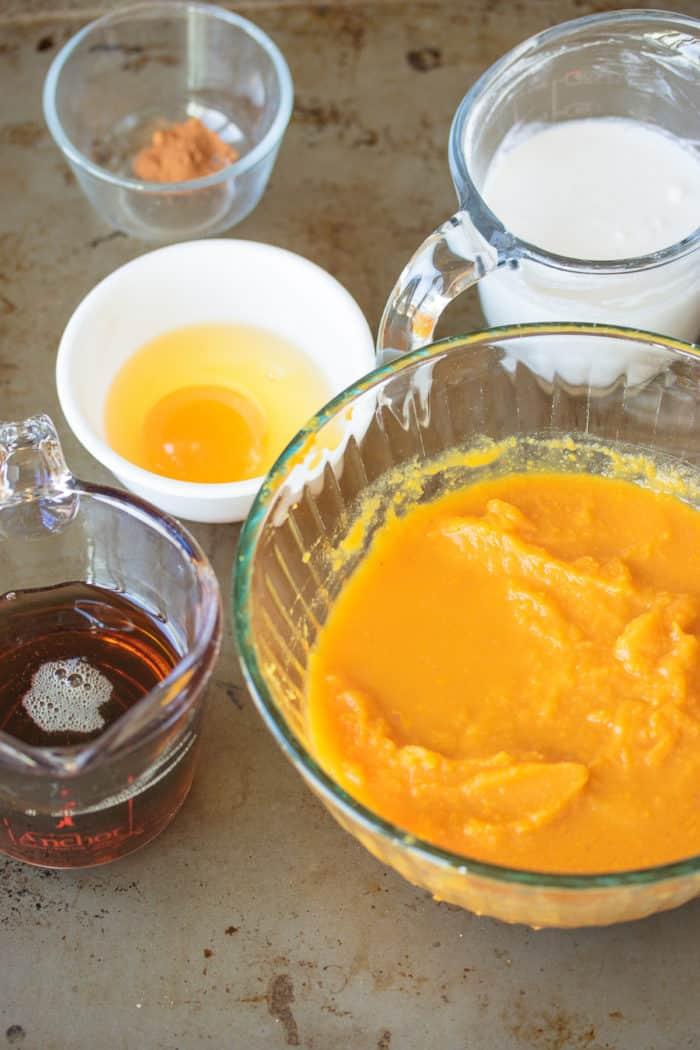 ingredients for instant pot pumpkin pudding