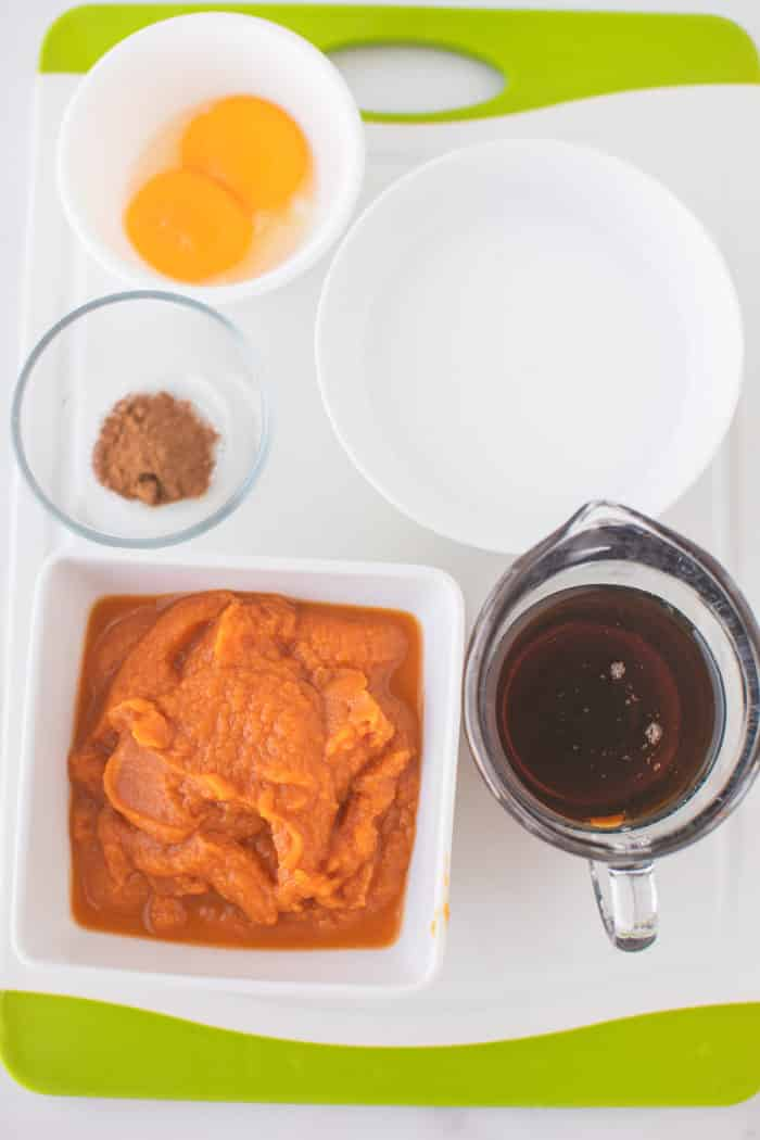 ingredients for pumpkin pie pudding