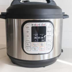instant pot duo on a white kitchen countertop